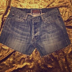 Levi's 539 Vintage Straight Cutoff Shorts